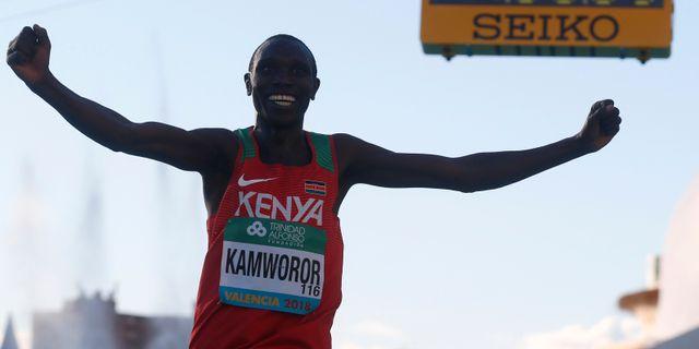 Geoffrey Kamworor. Arkivbild. HEINO KALIS / BILDBYRÅN