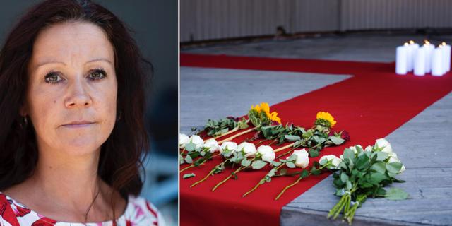 Jenny Eriksson som arrangerade ceremonin.  TT
