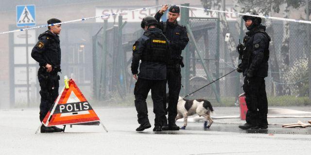 Nationella bombskyddet på platsen Pontus Stenberg/TT / TT NYHETSBYRÅN