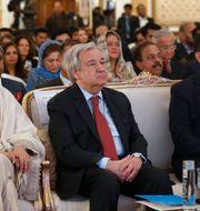 Guterres vid ett besök i Islamabad, Pakistan.  Anjum Naveed / TT NYHETSBYRÅN