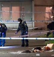 Polisen vid brottsplatsen. Arkivbild.  Johan Nilsson/TT / TT NYHETSBYRÅN