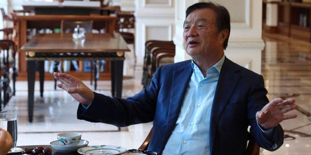Arkivbild: Huaweis grundare och vd Ren Zhengfei.  Ng Han Guan / TT NYHETSBYRÅN