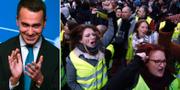 """Luigi Di Maio har haft möten med """"gula västarna"""". TT"""