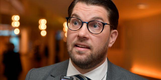 Jimmie Åkesson. Anders Wiklund/TT / TT NYHETSBYRÅN