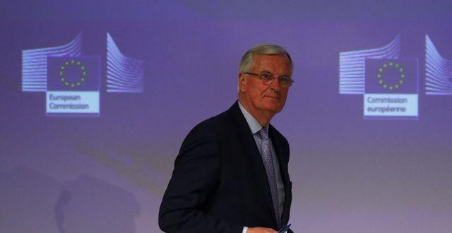 EU:s chefsförhandlare Michel Barnier  FRANCOIS LENOIR / TT NYHETSBYRÅN