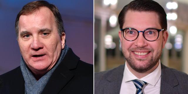 Stefan Löfven (S) och Jimmie Åkesson (SD).  TT