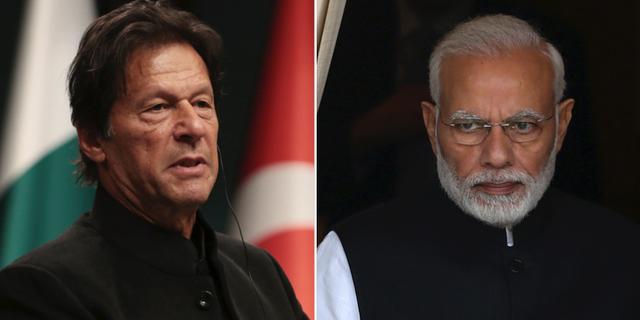 Pakistans och Indiens premiärministrar Imran Khan och Narendra Modi. TT