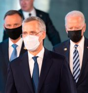 Nato-chefen Jens Stoltenberg främst i bild.  Jacques Witt / TT NYHETSBYRÅN