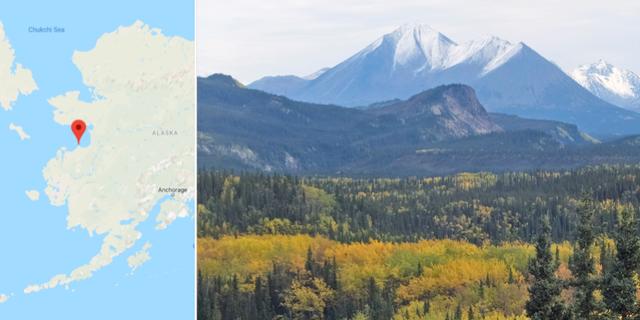Stebbins utmärkt på kartan/Illustrationsbild från Alaska. Google Maps/TT