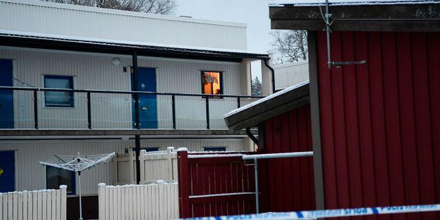 Den mördade kvinnan hittades i en lägenhet i Vetlanda Mikael Fritzon/TT / TT NYHETSBYRÅN