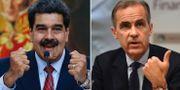 Maduro och centralbankschefen Mark Carney.