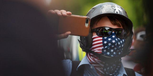 Vit makt-demonstration i Washington D.C. Arkivbild. Craig Hudson / TT NYHETSBYRÅN/ NTB Scanpix