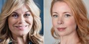 Pernilla Wahlgren och Julia Dufvenius Wollter. TT