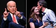 Biden/O'Rourke med sin hustru efter förlusten i Texas. TT
