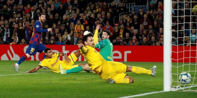 Messis mål ikväll. ALBERT GEA / BILDBYRÅN