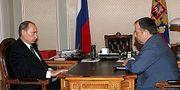 Vladimir Putin och NLMK-ägaren Vladimir Lisin. Kreml