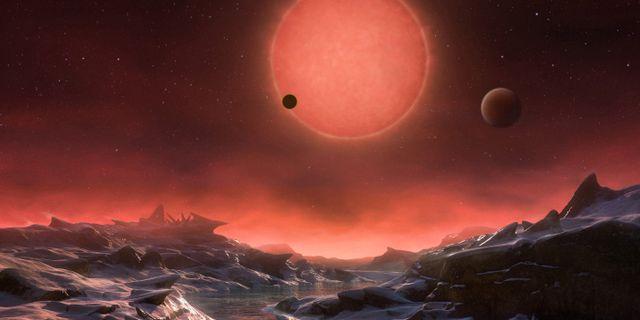 Illustration över hur planeten K2-18b kan tänkas se ut. European Southern Observatory