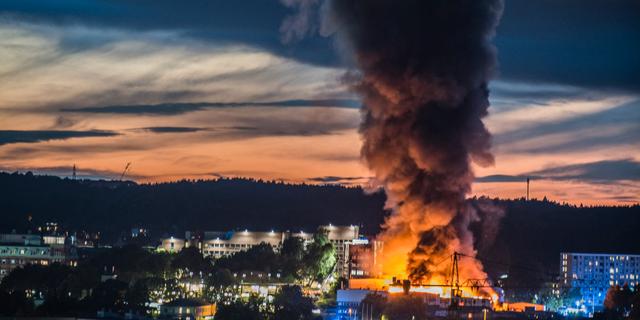 Industribrand i goteborg under kontroll