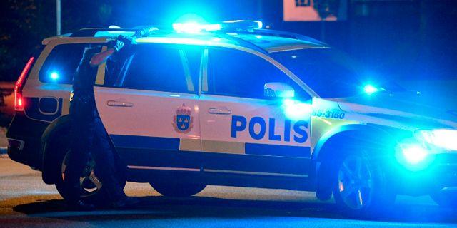 Polisbil/genrebild.  Johan Nilsson/TT / TT NYHETSBYRÅN