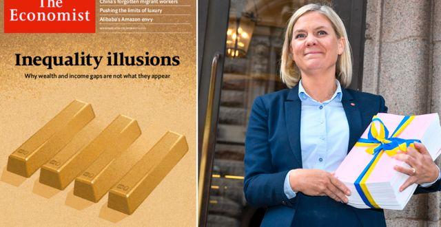 The Economist omslag (30 november 2019) och Claudio Bresciani/TT