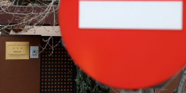 Arkivbild: Nordkoreas ambassad i Spanien.  Manu Fernandez / TT NYHETSBYRÅN