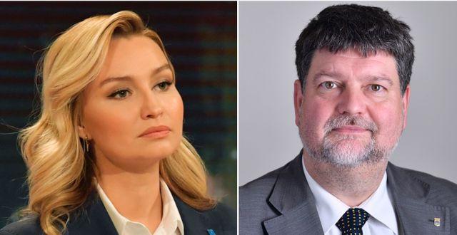 Kristdemokraternas partiledare Ebba Busch och Magnus Jacobsson (KD).  TT