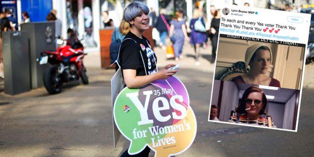 Ja-kampanj på Irland. TT