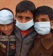 Barn i flyktingläger i provinsen Idlib. AAREF WATAD / TT NYHETSBYRÅN