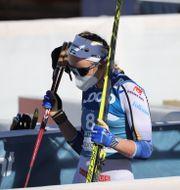Linn Svahn lämnar arenan efter semifinalen i sprint  Adam Ihse/TT / TT NYHETSBYRÅN