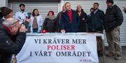 De lokala handlarna i Husby protesterar mot alla stölder och inbrott i centrums butiker. Arkivbild Stina Stjernkvist/TT / TT NYHETSBYRÅN