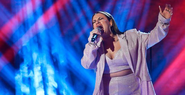 Paulina Pancenkov i fredagsfinal i TV4:as Idol. Anders Wiklund/TT / TT NYHETSBYRÅN