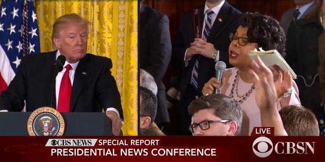 Skärmdump från presskonferensen. CBSN