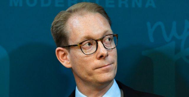 M:s gruppledare Tobias Billström.  Janerik Henriksson/TT / TT NYHETSBYRÅN