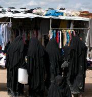 Kvinnor i al-Hol-lägret i Syrien. Maya Alleruzzo / TT NYHETSBYRÅN