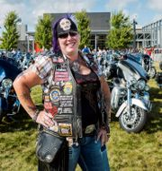 Illustrationsbild: Harley-Davidson-fantasten Trisha Young från Joilet, Illinois. Sara Stathas / TT NYHETSBYRÅN