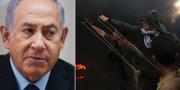 Netanyahu/Demonstranter skjuter sten med slangbellor vid gränsen mot Israel. TT