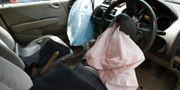 Exploderade krockkuddar i Hondabil i Malaysia förra året. TT