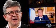 Jean-Luc Mélenchon/Emmanuel Macron TT/AP