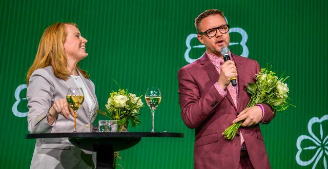 Lööf och Federley. Arkiv. Pontus Lundahl/TT / TT NYHETSBYRÅN