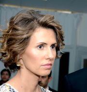 Asma al-Assad och Bashar al-Assad. Arkivbild. Hassene Dridi / TT NYHETSBYRÅN