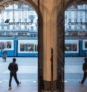 Illustrationsbild. Credit Suisses huvudentré i Zürich. Ennio Leanza / TT NYHETSBYRÅN