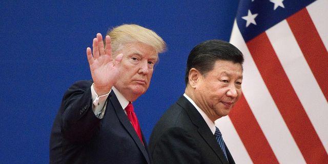 Trump och Xi i november 2017. NICOLAS ASFOURI / AFP