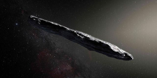 "En konstnärs visualisering av asteroiden ""Oumuamua"". M. KORNMESSER / European Southern Observatory"