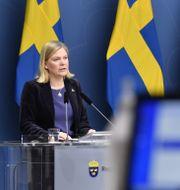Finansminister Magdalena Andersson (S) och näringsminister Ibrahim Baylan (S).  Henrik Montgomery/TT / TT NYHETSBYRÅN