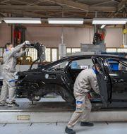 Bilarna ska produceras i den kinesiska staden Changchun. Zhang Nan / TT NYHETSBYRÅN