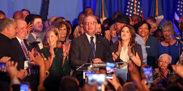 John Bel Edwards firar segern i guvernörsvalet. Matt SULLIVAN / GETTY IMAGES NORTH AMERICA
