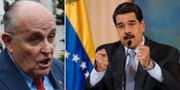 Rudy Giuliani och Nicolás Maduro. TT
