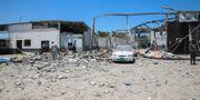 Förödelsen efter luftangreppet. Hazem Ahmed / TT NYHETSBYRÅN/ NTB Scanpix