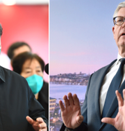 Kinas president Xi Jingping och Ericssons vd Börje Ekholm Xie Huanchi/AP, LarsSchröder/TT