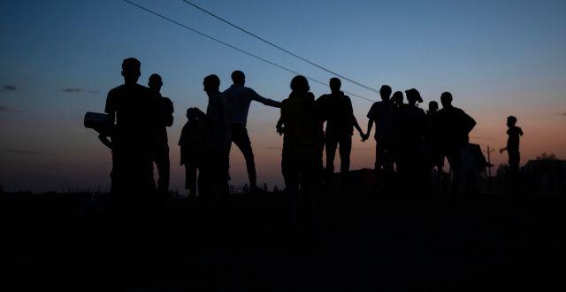 Flyktingar i Tigray. Nariman El-Mofty / TT NYHETSBYRÅN